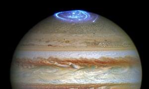 Auroras in Jupiter's atmosphere.