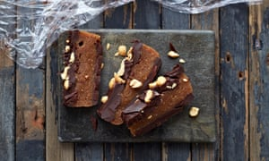 Chocolate, peanut butter and date slab