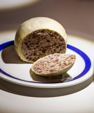 Sheep's stomach stuffed with offal, suet, oatmeal and spices is better known as haggis and eaten on Burns Night in Scotland.