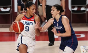A'ja Wilson leads the USA in scoring at 16.0 points per game.