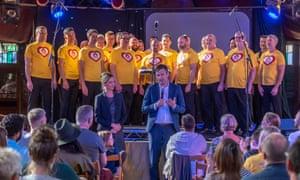 Sohlström invited the Brighton Gay Men's Chorus to sing Abba hits.