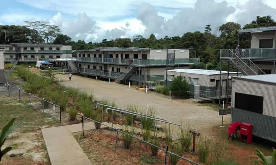 Australian-run accommodation for refugees on Manus Island in Papua New Guinea.