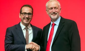 Jeremy Corbyn with Owen Smith in 2016.