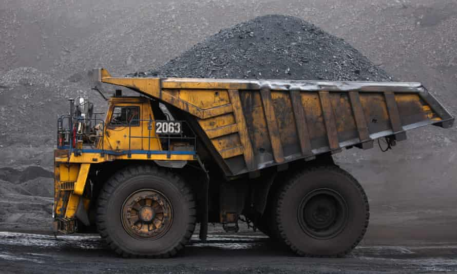 Coal collected from the Neryungrinsky mine in Russia