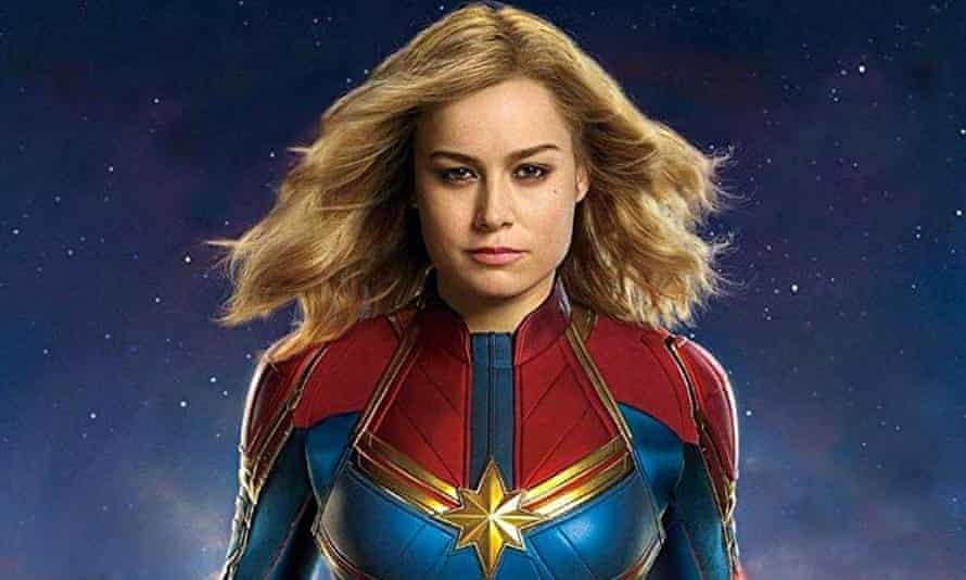 Social justice warrior ... Brie Larson in Captain Marvel.