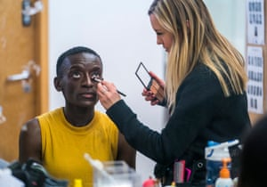 Sarah Amankwah in makeup