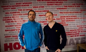 Hope Not Hate founder and national coordinator Nick Lowles (left) and campaign organiser Sam Terry.