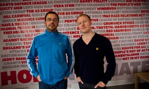 Hope Not Hate director Nick Lowles, left, with campaign organiser Sam Tarry.