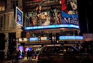 The Sondheim theatre in London's West End.