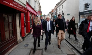 Johnson on walkabout in Wells