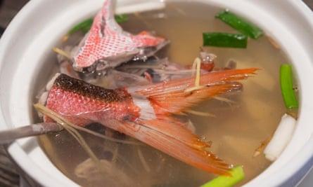An Asian fishtail soup