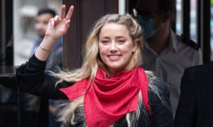 Amber Heard arriving at the high court in London