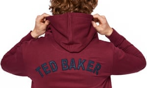 Hoodie with Ted Baker on the back