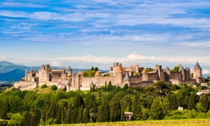 Fairytale castle: the fortified city of Carcassonne, in the heart of Languedoc-Roussillon, France.