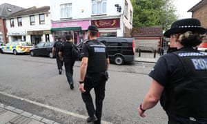 Police in Shoreham-by-Sea in Sussex