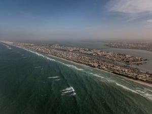Aerial view of Saint-Louis, Senegal.