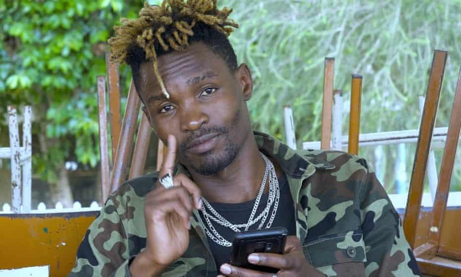 Musician Samson Otieno aka Tymilyfe in Kibera, Nairobi, Kenya