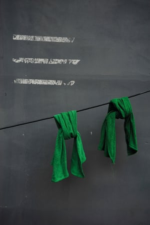 Beijing Huton wall Traces of tape removed, and the two dyed towels seemed to be meant for each other. The emerald cotton was luminescent against the grey wall; I couldn't capture the true wonder of that colour on camera. The Beijing hutons are extraordinary, an ever rich tapestry of inspiration.