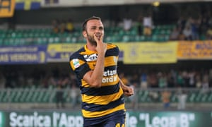 Giampaolo Pazzini joined his current club Hellas Verona in 2015 after three years at Milan.