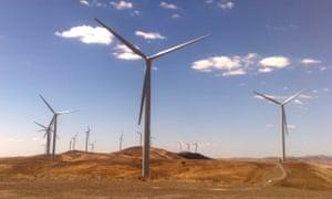 A windfarm near Burra in South Australia