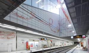 U-Bahn station Kirchplatz, Wehrhahn Linie Düsseldorf.