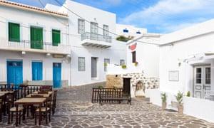 Tripiti village on Milos island. Cyclades, Greece.