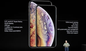 Apple's Phil Schiller presents the Apple iPhone XS and Apple iPhone XS Max during an event to announce new Apple products Wednesday, Sept. 12, 2018, in Cupertino, Calif. (AP Photo/Marcio Jose Sanchez)