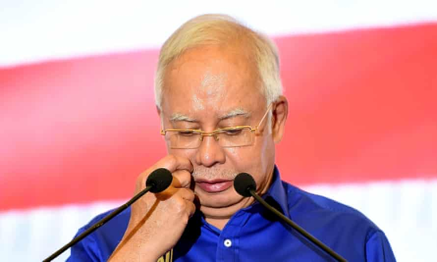 Former Malaysian prime minister Najib Razak, who is widely suspected to have links to the murder of Altantuya Shaariibuu.