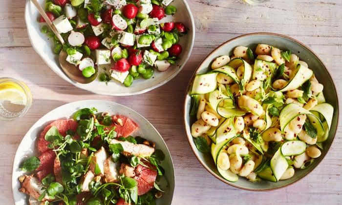 Rukmini Iyer's trio of summer salads: chicken, butter beans and feta
