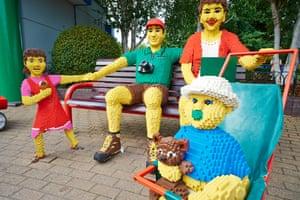 A family at Legoland.