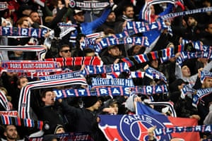 PSG fans cheer on the team during their demolition of Dijon.