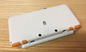 The New Nintendo 2DS XL, rear.