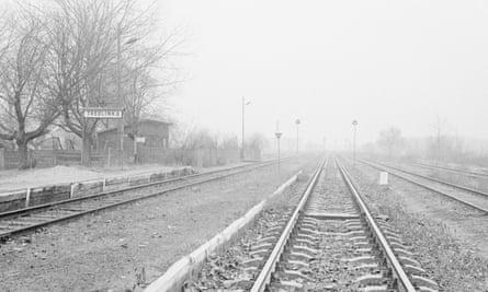 Railway tracks near the concentration camp at Treblinka, Poland