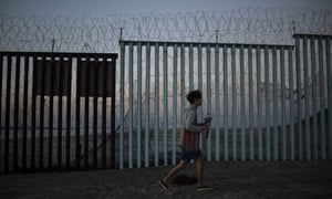 The Mexico-US border fence in Tijuana.