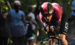 Geraint Thomas was unexpectedly beaten by Julian Alaphilippe on the stage 13 time trial.