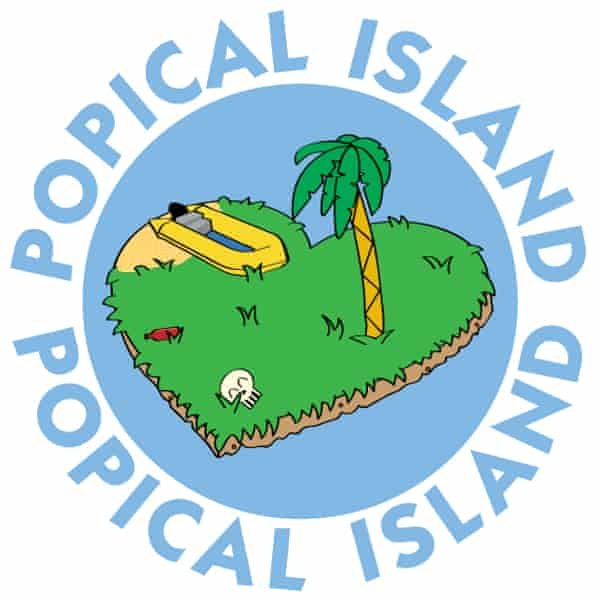 Popical Island's logo.