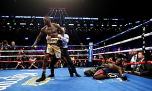 Deontay Wilder knocks out Bermane Stiverne in the first round during their rematch for Wilder's WBC heavyweight title in November.