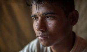 Mohammed Riaz, aged 17, is being counselled at a refugee camp in  Cox's Bazar.