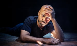 akram khan posing lying on his front at the roundhouse in north london