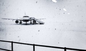 Snowfall was double the previous record of 18cm in 1996 at Glasgow airport.