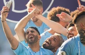 Riyad Mahrez won his second Premier League trophy this season.