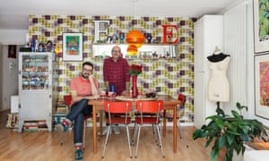 Alongside their book collection (immaculately housed in Vitsoe shelving) Eduardo Lima and Mauricio Carneiro with some of their collections of vintage lettering, tin toys and Playmobil figures.