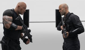 Dwayne Johnson and Jason Statham in Fast & Furious Presents: Hobbs & Shaw.