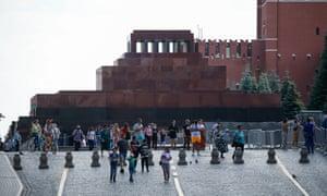 The queue for Lenin's mausoleum.