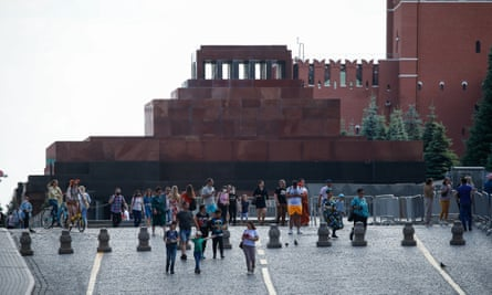 The queue for Lenin's mausoleum.