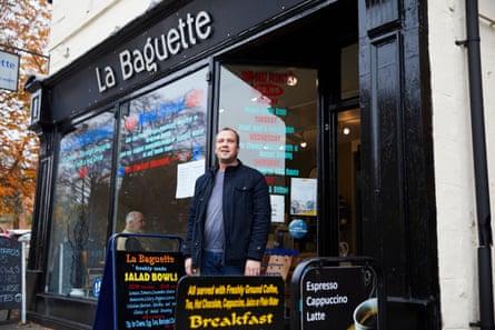 Matt McHale at La Baguette in Wrexham.