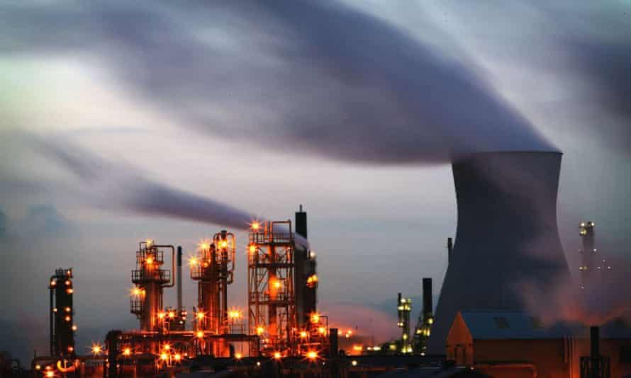 The PetroIneos oil refinery at Grangemouth, Scotland