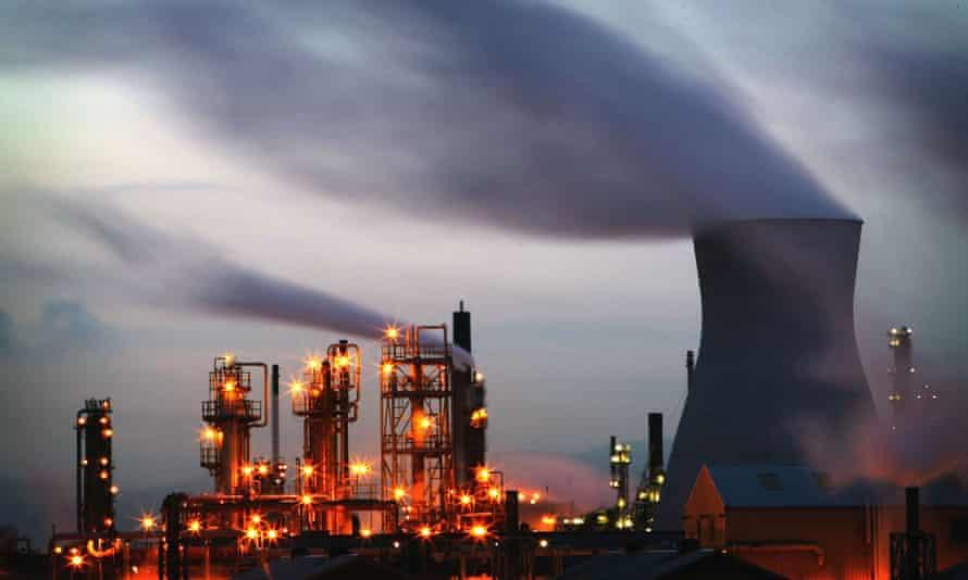 BP's oil refinery complex in Grangemouth, central Scotland.
