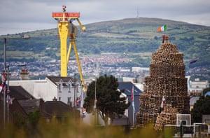 A bonfire in east Belfast