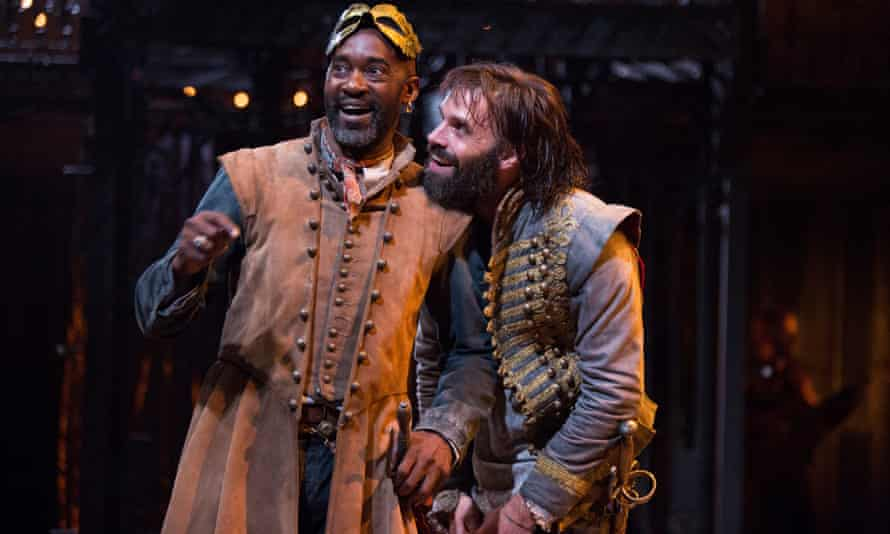 The Rover's return Patrick Robinson and Joseph Millson in a Restoration hit at the RSC .